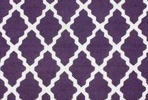 Purple Floor Rugs / Purple floor rugs.  Purple, plum, lavender, eggplant, violet and other purple colors.  Purple rugs make the best home decor because it adds personality and character to a room instantly. / by Lesley Stevens