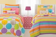 Rainbow Bedding Sets / Rainbow colored bedding sets. / by Lesley Stevens