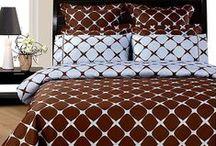 Blue and Brown Bedding Sets / by Lesley Stevens