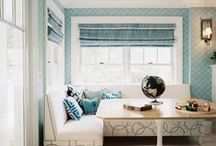 BREAKFAST NOOKS / Some people call them kitchen nooks, while others call them breakfast nooks. Either way, I love them for the function and beauty they add to a kitchen. / by Cristin Priest   Simplified Bee