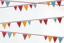 Pennants / Colorful, versatile, and just plain fun. What's not to love? / by Rosenberry Rooms