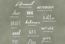 Design : Fonts I Love / by Angelica Suarez // AngSuarez Creative