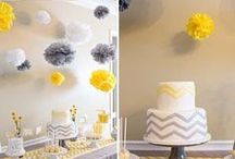 PARTY ON: grey & yellow love / by Tiffany Benson <PaperLaneDesign>