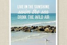 "Live in the Sunshine, Swim the Sea, Drink the Wild Air (Quote by Ralph Waldo Emerson) / Highlights of the beauty of a bountiful life inspired by Ralph Waldo Emerson's quote, ""Live in the Sunshine, Swim the Sea, Drink the Wild Air."" / by HappyGoLicky Custom Silver Jewelry on Etsy"
