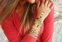 Metallic Tattoos, Metallic Temporary Tattoos, Gold Tattoos & Silver Tattoos / Metallic Temporary Tattoos by ShimmerTatts in Gold & Silver: Add some bling to your fall fashion accessories with temporary jewelry tattoos by www.ShimmerTatts.com / by HappyGoLicky Custom Silver Jewelry on Etsy