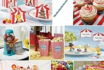 Baby Boy  Vintage Circus Shower for Lacy / It's boy #2 for Lacy and Thomas, soit will be a diaper shower - vintage circus style. We can have a whole family shower and serve hot dogs, popcorn, peanuts, and cotton candy. / by Billie Ross