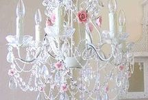 VINTAGE DREAMS - Chandeliers, Lamps, and Candelabras / Shabby Chic lighting / by Diane Blair