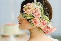 Flower Headdress & Crowns / floral headdress, flower crowns / by French Wedding Style - Wedding Blog