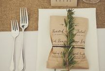 Burlap weddings / Ideas and inspiration for burlap weddings / by French Wedding Style - Wedding Blog