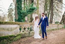 Boho Elopement / Beautiful Bohemian inspired elopement shoot at Chateau Challain in France / by French Wedding Style - Wedding Blog