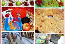 Preschool September - Back to School/All About Me / September Preschool Curriculum Ideas. Themes: back to school, all about me, apples, Self-Portrait, Picasso, Steven Kellogg / by Rebecca Rak