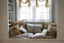 Cozy Nooks / Comfy spots and cozy nooks. / by Darlene Schacht (TimeWarpWife.com)