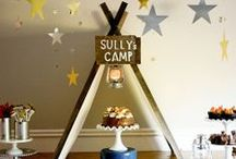 Birthday Party {Camp Party Ideas} / Simple fun food, craft, favor and styling ideas for hosting a camping themed birthday party! / by Kim {The Celebration Shoppe}