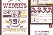 Wedding Stationary / - Wedding Invitation - Thank You Card - Menu - Program / by AlligatorAl