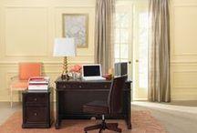 Office or Homeschool Room Decor Ideas / Storage & decor ideas for a home office and Homeschool room. Homeschool room storage / by Danielle - The Frugal Navy Wife