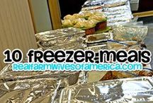Food - Freezer Meals / Freezer meal recipes, printable shopping lists, and information on Freezer cooking (AKA Once a Month Cooking, OAMC, and batch cooking) / by Danielle - The Frugal Navy Wife