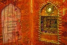 Art Journaling | Altered Books / A collection to inspire us to maintain our artistic practice via visual journaling. But no collages of sad turn-of-the-century children with pointy hats or wings. / by Cathy Malchiodi | Art Therapy