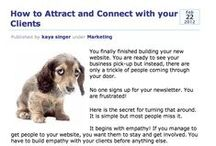 Marketing blogs for solo biz owners / Inspiring and helpful tips for how to get more clients! / by Kaya Singer