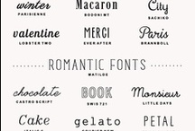 typography & graphic design / by Adrienne Berg