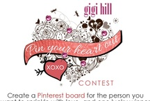 Pin Your Heart Out! (Contest ended 2/13/13) / (Contest ended 2/13/13) Valentine's Day is coming up, and we want to help spread the Gigi Hill love! Create a Pinterest board for the person you want to sprinkle with love, and one lucky winner will receive a $200.00 Gigi Hill gift certificate! 