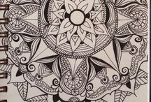 -attempts to draw- / Mostly zentangles / by Sarah Councell