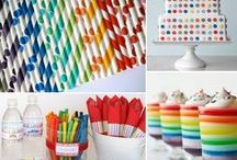 get this party started ... rainbow art party / Mr. ROY G BIV and little artist party ideas ... / by catherine s
