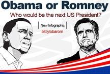 Obama vs. Romney / Barack Obama vs. Mitt Romney, Best Infographic - US Election 2012 / by Pramod Sharma