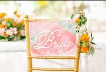 Wedding Chair Decor  / Decor ideas for chairs at wedding receptions.  / by Project Wedding