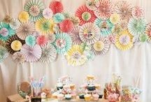 Paper Decor / Who says wedding decor has to be all flowers and lace? Get inspired by these paper wedding decor ideas!  / by Project Wedding