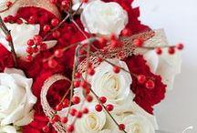 red and silver wedding / by Ashley Follett