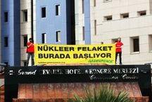 Nükleer Enerji Zirvesi'nde Greenpeace eylemi / Bu sabah, Enerji Bakanlığı'nın da desteklediği Nükleer Enerji Zirvesi'nde eylemdeydik. Toplantıya katılanları hem içeride hem dışarıda pankartlarla karşıladık.   Nükleere karşı sen de katıl>> http://nukleer.greenpeace.org/?pinterest_eylem / by Greenpeace Türkiye
