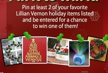 Christmas: Pin It to Win It! / It's that time of year to pin it to win it! You could win one of these products just by pinning it!  Steps to Enter: 1 - Go to Lillian Vernon's Facebook page: https://www.facebook.com/lillianvernon/app_199909830142802 2 - Fill out your name & email address 3 - Click 'Pin It' for at least 2 items that you would want to win 4 - Click enter!  Winner will be chosen randomly and selected the week of December 12.  / by Lillian Vernon