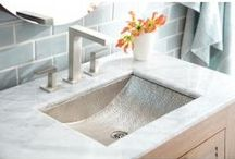 KCK Bathroom Sinks  / When it's time for a full on bathroom renovation, one of the first things to consider is your choice in bathroom sinks. Although there are many important aspects that make up a major bathroom overhaul, the sink is usually central in looks as well as use. In today's modern decorating world, the sink not only serves an important function in the bathroom but it can also add a spark of beauty and class to the entire area.In addition to the practical aspects, design and looks are also important.   / by Kitchen Cabinet Kings