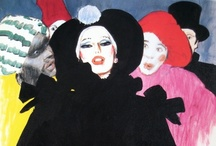 René Gruau and sharks alike / Georges Barbier., Paul Poiret., Georges Lepape., René Bouchée.,Malika Favre., Frederic Varady / by Sophie Tortladze