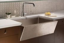 KCK Kitchen Sinks / One small, yet crucial aspect of a renovation is the kitchen sink. You will be using the sink more often than most other items in the kitchen, so you need to ensure you purchase something durable and aesthetically pleasing. / by Kitchen Cabinet Kings