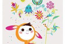 Illustration 3 and Me / Illustration, art for kids, children's book illustration, cuteness / by Allyn Howard