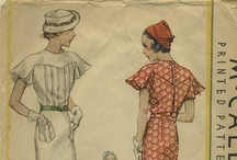 1930s Clothing and Patterns / 1930s fashion, 1930s clothing, 1930s patterns, vintage clothing, vintage patterns / by Jennifer Streeter