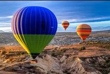 big balloons / amazing, shiny, bright, colorful hot air balloons / by Kristin D