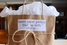 Brown paper packages tied up with string... / Packaging, wrapping, cards & tags / by Anita Nobile