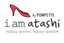 """i am atashi / """"i am atashi"""" is a brand by POMPETTE, dedicated to all women who embrace their individuality. """"atashi"""" is """"me"""" in Japanese - because """"i am me!""""   Happy women, happy world♡ www.iamatashi.com / by POMPETTE"""