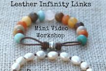 Leather Links Video Tutorial / Jewelry made using leather links.  These projects are made by the wonderfully creative people who watched my Leather Links Mini Video Workshop!   / by Tracy Statler