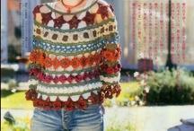 ladies tops crochet and knitting / by Jj Jones