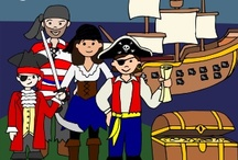 "Pirate Day / Ideas for ""Talk like a Pirate Day"", Sept 19th or themed pirate parties. Pinned or repinned by Lessonpix.com / by LessonPix"