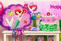 Little Mermaid Party Ideas / No need to make a deal with Ursula to throw a Little Mermaid party they'll remember forever! We've got Little Mermaid party ideas for a sea-sational birthday bash, like Little Mermaid decorations, desserts, table settings, games and favors.  / by Party City