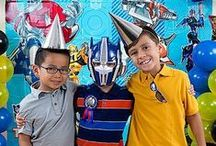 Transformers Party Ideas / Unite the Autobot fans for your son's out-of-this-world Transformers birthday party! Explore super-cool décor, food ideas, games, favors, even place settings to make your little boy feel like he's been teleported to planet Cybertron!  / by Party City