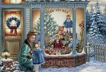 CHRISTMAS CROSS STITCH & EMBROIDERY / by Marcia Myers-Knoles