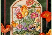 Cross Stitch & Embroidery flowers / by Marcia Myers-Knoles