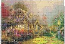 cross stitch cottages, landscapes etc. / by Marcia Myers-Knoles