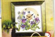 cross stitch clock faces / by Marcia Myers-Knoles