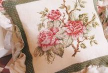 cross stitch pillows / by Marcia Myers-Knoles